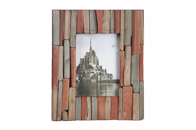 "Home Accents 5"" x 7"" Photo Frame, Peach, large"