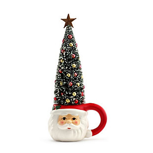 Mr. Christmas  Lit Mug with Sisal Tree - Santa, , rollover