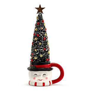 Mr. Christmas  Lit Mug with Sisal Tree - Snowman, , rollover