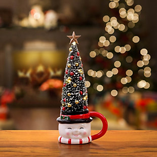 Mr. Christmas  Lit Mug with Sisal Tree - Snowman, , large