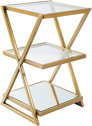 Home Accents  Clear Modern Accent Table, , large