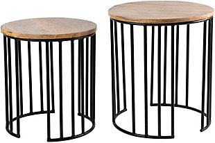 Home Accents  Black Modern Nesting Table Set, , large
