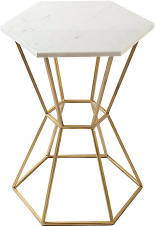 Home Accents  White Modern Accent Table, , large