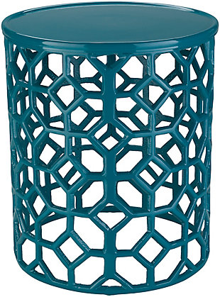 Home Accents  Teal Modern Accent Table, , large