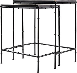 Home Accents  Black Modern Nesting Table Set, , rollover