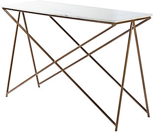 Home Accents  White Modern Console Table, , large