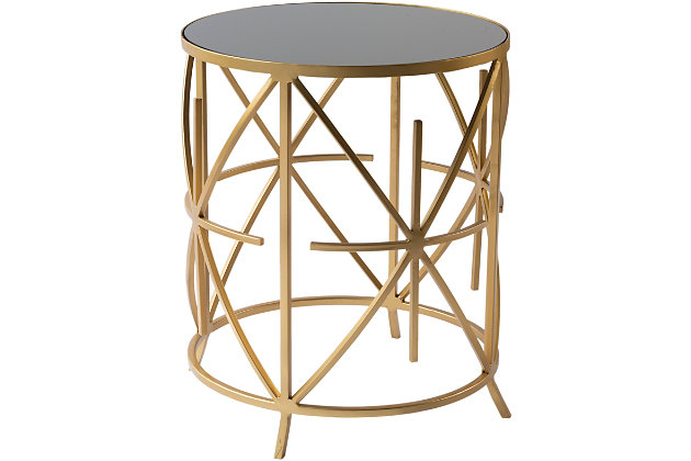 Home Accents  Black Modern Accent Table, , large