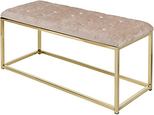 Home Accents  Taupe Modern Upholstered Bench, , large
