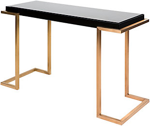Home Accents  Black Modern Console Table, Black, large