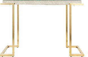 Home Accents  Gold Modern Console Table, White, rollover