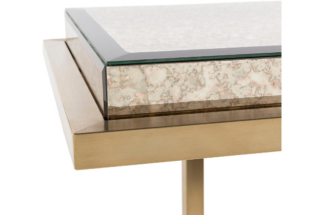 Home Accents  Gold Modern Console Table, White, large