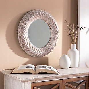 Home Accents  Gray Traditional Wall Mirror, White, rollover