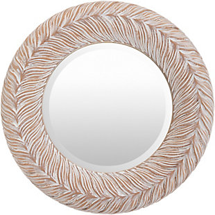 Home Accents  Gray Traditional Wall Mirror, White, large