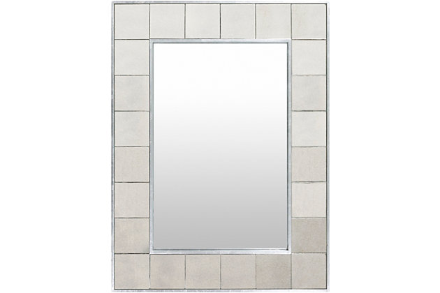 Home Accents  Gray Traditional Wall Mirror, , large