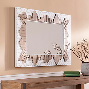 Home Accents  White Modern Wall Mirror, , rollover