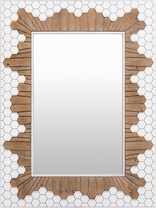 Home Accents  White Modern Wall Mirror, , large