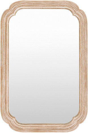 Home Accents  Natural Traditional Wall Mirror, , large