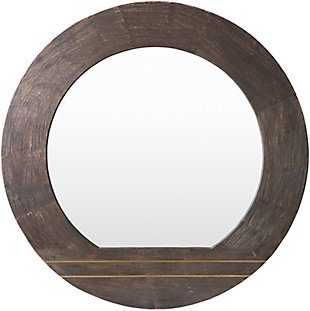 Home Accents  Brown Modern Wall Mirror, , large