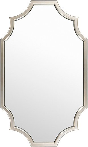 Home Accents  Silver Traditional Wall Mirror, , large