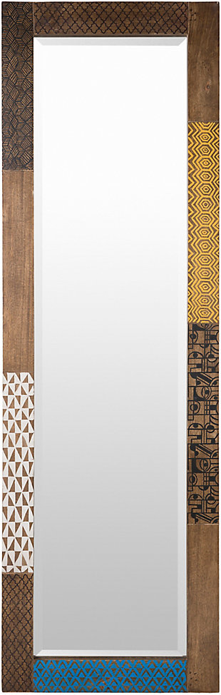 Home Accents  Tan Global Wall Mirror, , large
