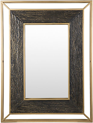 Home Accents  Gold Modern Wall Mirror, , large