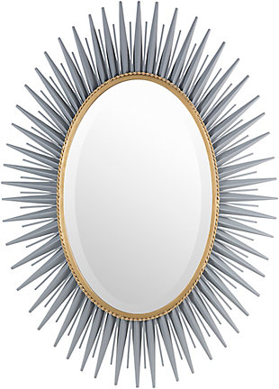 Home Accents  Gray Modern Wall Mirror, , large