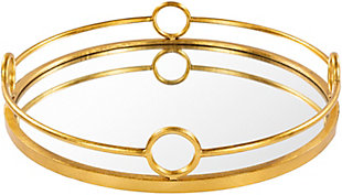 Home Accents  Gold Modern Decorative Tray, , large
