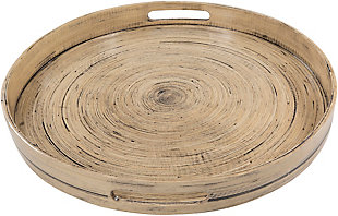 Home Accents  Garden Natural Global Decorative Tray, , large