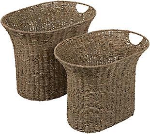 Home Accents  Natural Global Decorative Basket  Set, , large