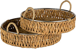 Home Accents  Natural Global Decorative Tray, , large