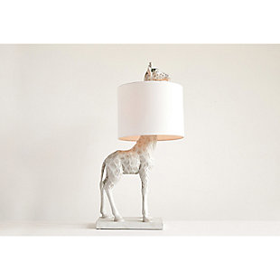Creative Co-Op White Resin Giraffe Lamp, , rollover