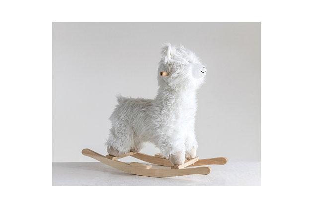 Plush White Rocking Llama, , large