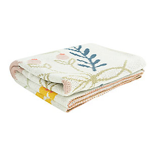 "40""L x 32""W Cotton Knit Baby Blanket with Bee, , large"