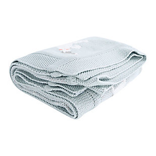 """40""""L x 32""""W Cotton Knit Baby Blanket with Dog, , large"""