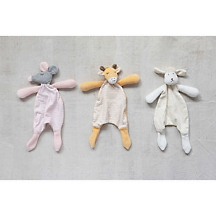 Creative Co-Op Plush Snuggle Toy (Set of 3 Styles), , rollover