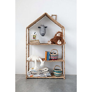 Foldable House-Shaped 3-Section Woven Bankuan Shelves, , rollover