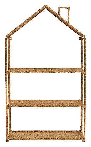 Foldable House-Shaped 3-Section Woven Bankuan Shelves, , large