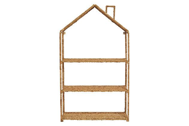 Foldable House-Shaped 3-Section Woven Bankuan Shelves, , large