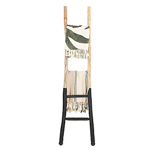 Creative Co-Op Decorative Wood Ladder, Black, rollover