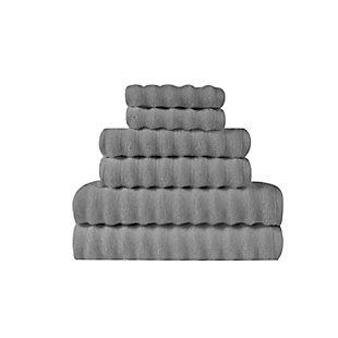 Truly Soft Truly Soft Zero Twist 6 Piece Towel Set, Grey, large