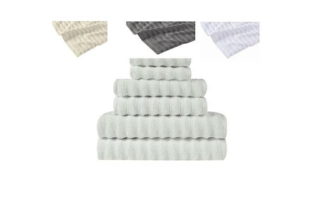 Truly Soft Truly Soft Zero Twist 6 Piece Towel Set, Light Blue, large
