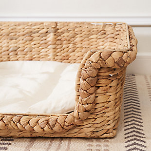 """Vifah Kylie 31"""" Hand-woven Water Hyacinth Cat House Set  with Cushion- Size Medium and Large, , large"""