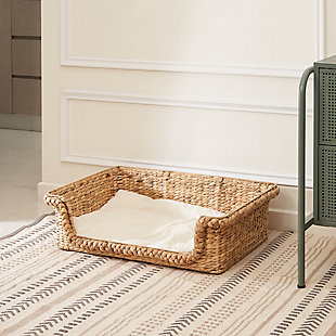 "Vifah Amaya 29"" Hand-woven Water Hyacinth Cat House with Cushion- Size Medium, , large"