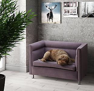 TOV Beagle Gray Pet Bed, Gray, rollover