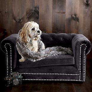 TOV Husky Gray Pet Bed, Gray, rollover