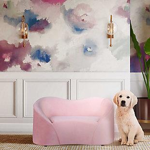 TOV Poodle Blush Pet Bed, Pink, rollover