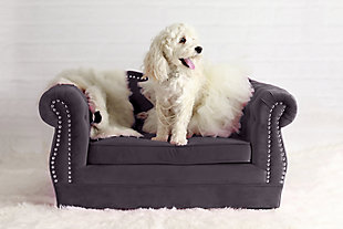 TOV Yorkshire Gray Pet Bed, Gray, rollover