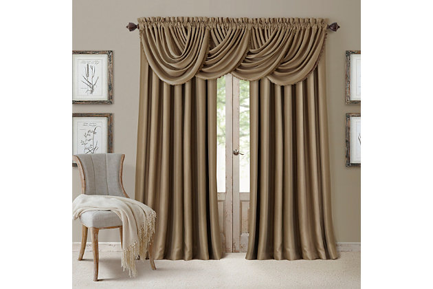 """Home Accents All Seasons Blackout Window Curtain Panel, Antique Gold, 52"""" x 108"""", Antique Gold, large"""