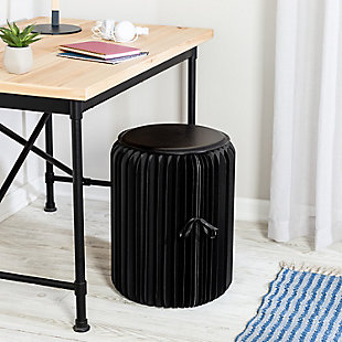 Honey-Can-Do Black Foldable Paper Stool, , rollover