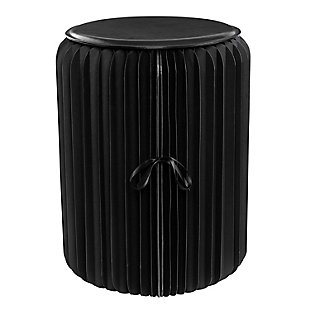 Honey-Can-Do Black Foldable Paper Stool, , large